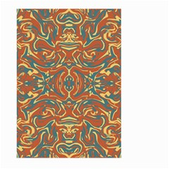Multicolored Abstract Ornate Pattern Large Garden Flag (two Sides) by dflcprints