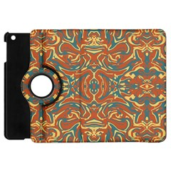 Multicolored Abstract Ornate Pattern Apple Ipad Mini Flip 360 Case by dflcprints