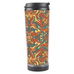 Multicolored Abstract Ornate Pattern Travel Tumbler by dflcprints
