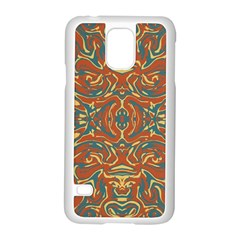 Multicolored Abstract Ornate Pattern Samsung Galaxy S5 Case (white) by dflcprints