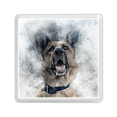 Dog Pet Art Abstract Vintage Memory Card Reader (square)  by Celenk