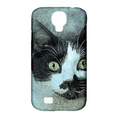 Cat Pet Art Abstract Vintage Samsung Galaxy S4 Classic Hardshell Case (pc+silicone) by Celenk