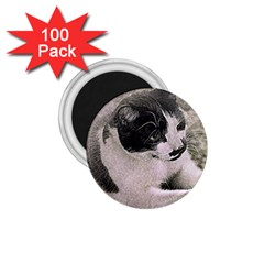 Cat Pet Art Abstract Vintage 1 75  Magnets (100 Pack)  by Celenk