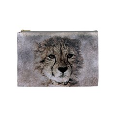 Leopard Art Abstract Vintage Baby Cosmetic Bag (medium)  by Celenk