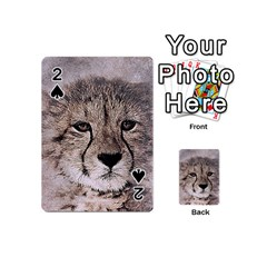 Leopard Art Abstract Vintage Baby Playing Cards 54 (mini)  by Celenk