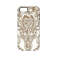 Beautiful Gold Floral Pattern Apple Iphone 5 Classic Hardshell Case (pc+silicone) by 8fugoso