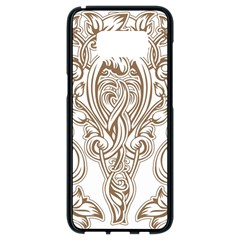 Beautiful Gold Floral Pattern Samsung Galaxy S8 Black Seamless Case by 8fugoso