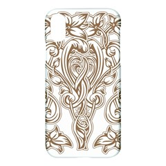 Beautiful Gold Floral Pattern Apple Iphone X Hardshell Case by 8fugoso