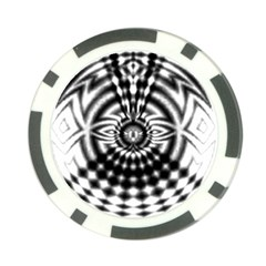 Ornaments Pattern Black White Poker Chip Card Guard by Cveti