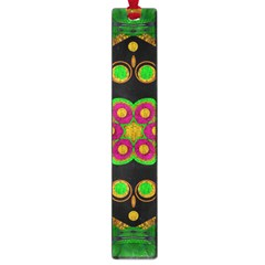 Magic Of Life A Orchid Mandala So Bright Large Book Marks by pepitasart