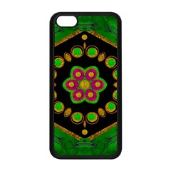 Magic Of Life A Orchid Mandala So Bright Apple Iphone 5c Seamless Case (black) by pepitasart