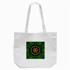 Magic Of Life A Orchid Mandala So Bright Tote Bag (white) by pepitasart