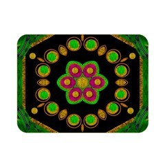 Magic Of Life A Orchid Mandala So Bright Double Sided Flano Blanket (mini)  by pepitasart