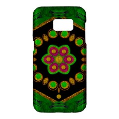 Magic Of Life A Orchid Mandala So Bright Samsung Galaxy S7 Hardshell Case  by pepitasart