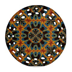 Tapestry Pattern Ornament (round Filigree) by linceazul