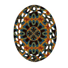 Tapestry Pattern Ornament (oval Filigree) by linceazul
