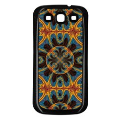 Tapestry Pattern Samsung Galaxy S3 Back Case (black) by linceazul