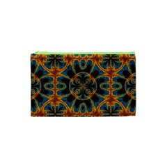 Tapestry Pattern Cosmetic Bag (xs) by linceazul