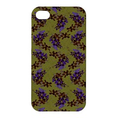 Green Purple And Orange Pear Blossoms  Apple Iphone 4/4s Hardshell Case by ssmccurdydesigns