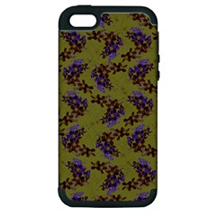 Green Purple And Orange Pear Blossoms  Apple Iphone 5 Hardshell Case (pc+silicone) by ssmccurdydesigns