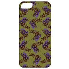 Green Purple And Orange Pear Blossoms  Apple Iphone 5 Classic Hardshell Case by ssmccurdydesigns