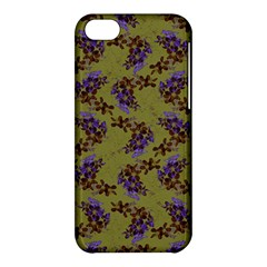 Green Purple And Orange Pear Blossoms  Apple Iphone 5c Hardshell Case by ssmccurdydesigns