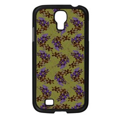 Green Purple And Orange Pear Blossoms  Samsung Galaxy S4 I9500/ I9505 Case (black) by ssmccurdydesigns