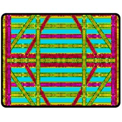 Gift Wrappers For Body And Soul Double Sided Fleece Blanket (medium)  by pepitasart