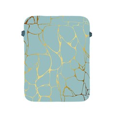 Mint,gold,marble,pattern Apple Ipad 2/3/4 Protective Soft Cases by 8fugoso