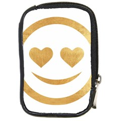 Gold Smiley Face Compact Camera Cases by 8fugoso