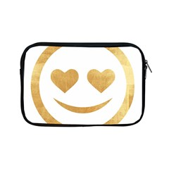 Gold Smiley Face Apple Ipad Mini Zipper Cases by 8fugoso