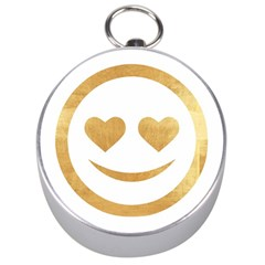 Gold Smiley Face Silver Compasses by 8fugoso