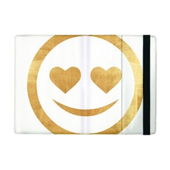 Gold Smiley Face Ipad Mini 2 Flip Cases by 8fugoso