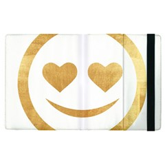 Gold Smiley Face Apple Ipad Pro 12 9   Flip Case by 8fugoso