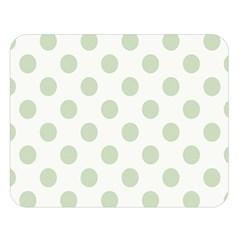 Green Dots Modern Pattern Paper Double Sided Flano Blanket (large)  by Celenk