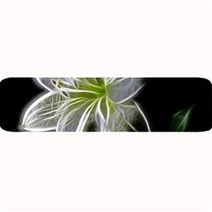 White Lily Flower Nature Beauty Large Bar Mats by Celenk
