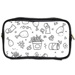 Set Chalk Out Scribble Collection Toiletries Bags 2 Side by Celenk