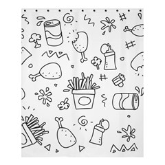 Set Chalk Out Scribble Collection Shower Curtain 60  X 72  (medium)  by Celenk