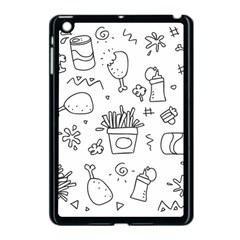 Set Chalk Out Scribble Collection Apple Ipad Mini Case (black) by Celenk