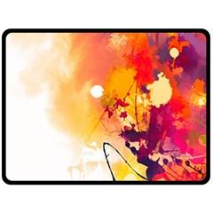 Paint Splash Paint Splatter Design Fleece Blanket (large)  by Celenk