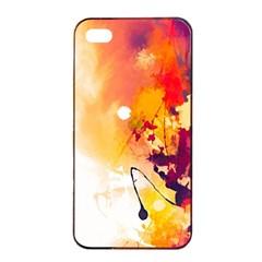 Paint Splash Paint Splatter Design Apple Iphone 4/4s Seamless Case (black) by Celenk