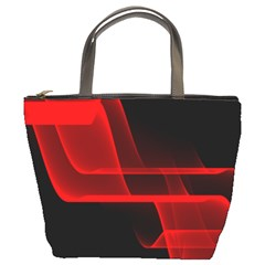 Background Light Glow Abstract Art Bucket Bags by Celenk