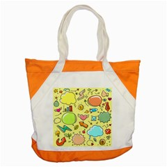 Cute Sketch Child Graphic Funny Accent Tote Bag by Celenk