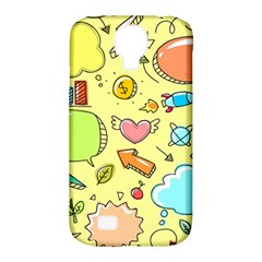 Cute Sketch Child Graphic Funny Samsung Galaxy S4 Classic Hardshell Case (pc+silicone) by Celenk