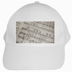 Sheet Music Paper Notes Antique White Cap by Celenk