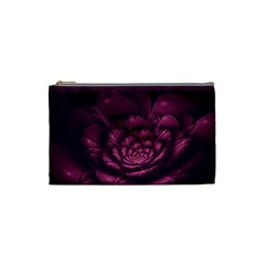 Fractal Blossom Flower Bloom Cosmetic Bag (small)  by Celenk