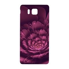 Fractal Blossom Flower Bloom Samsung Galaxy Alpha Hardshell Back Case by Celenk