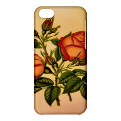 Vintage Flowers Floral Apple Iphone 5c Hardshell Case by Celenk