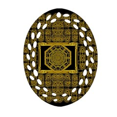 Beautiful Stars Would Be In Gold Frames Oval Filigree Ornament (two Sides) by pepitasart