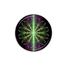 Fractal Purple Lime Pattern Hat Clip Ball Marker by Celenk